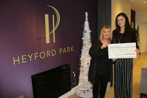 Developer raises more than £4,500 for two local charities
