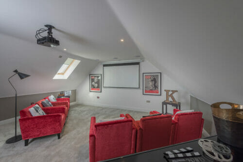 The Rushworth cinema room