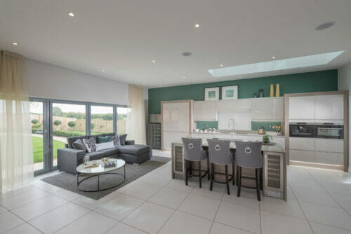 The Rushworth kitchen living area