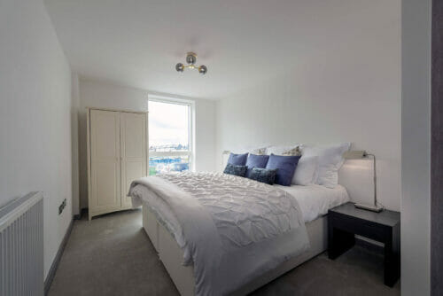 Double bedroom of 2 and 3 bed apartments for sale in Bicester