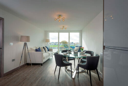 Dining and Lounge of 2 and 3 bed apartments for sale in Bicester